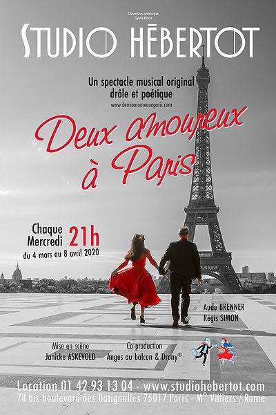 Affiche Deux Amoureux à Paris