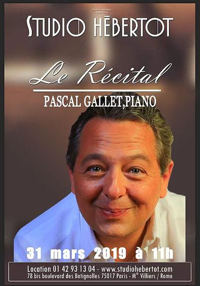 Affiche Le Récital Pascal Gallet