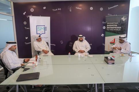 Mr. Walid Hareb Al Falahi, CEO, Dubai Consultancy  Mr. Fahim Al-Zubaidi, CEO and Co-Founder, Akshaak Platform  Mr. Mohsen Ahmad, CEO-Logistics District, Dubai South  Mr. Sarmad Al Zadjaly, Co-Founder and CEO,Tawseel Orders Delivery Services L.L.C