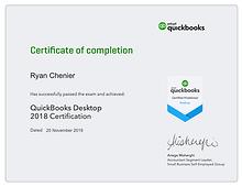 QuickBooks Certified ProAdvisor Desktop.