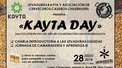 """SEGUNDA COCCIÓN DE CERVEZA """"KAYTA DAY"""" - AÑO 2018"""