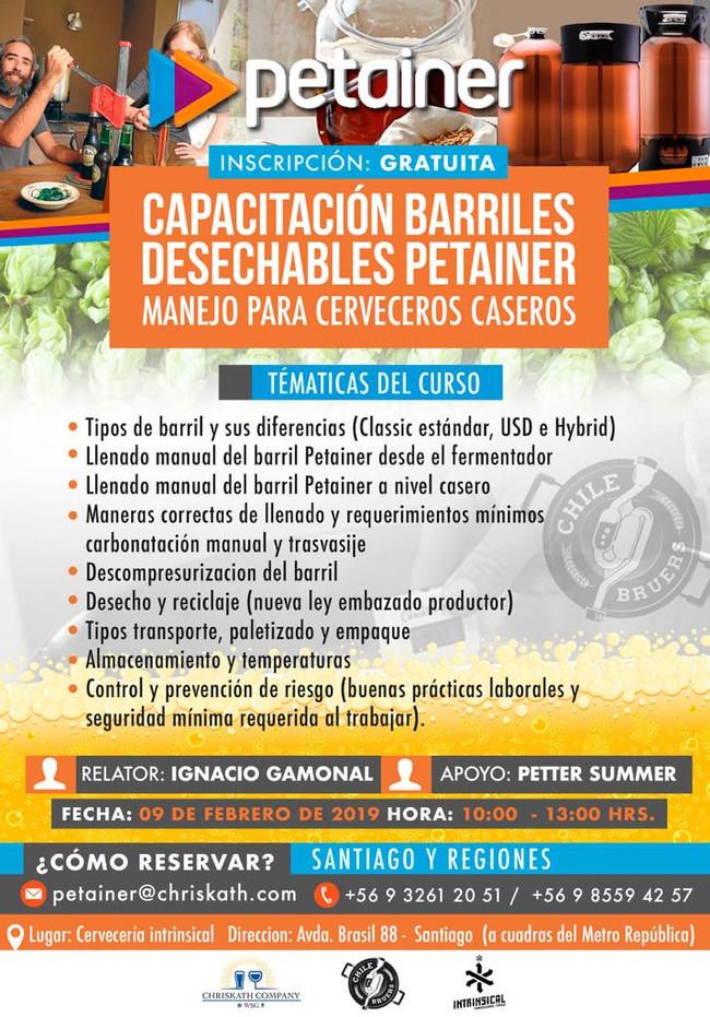 CAPACITACIÓN BARRILES DESECHABLES PETAINER