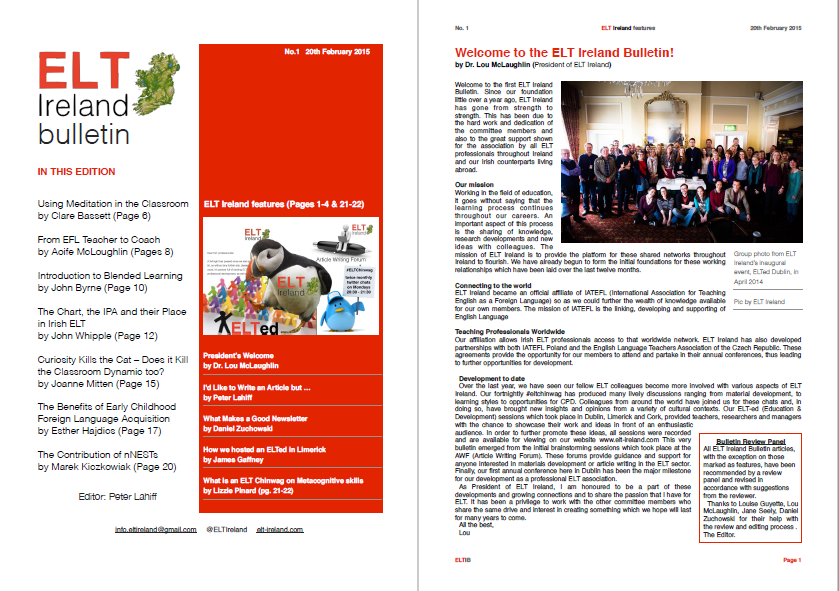 ELT Ireland Bulletin No. 1