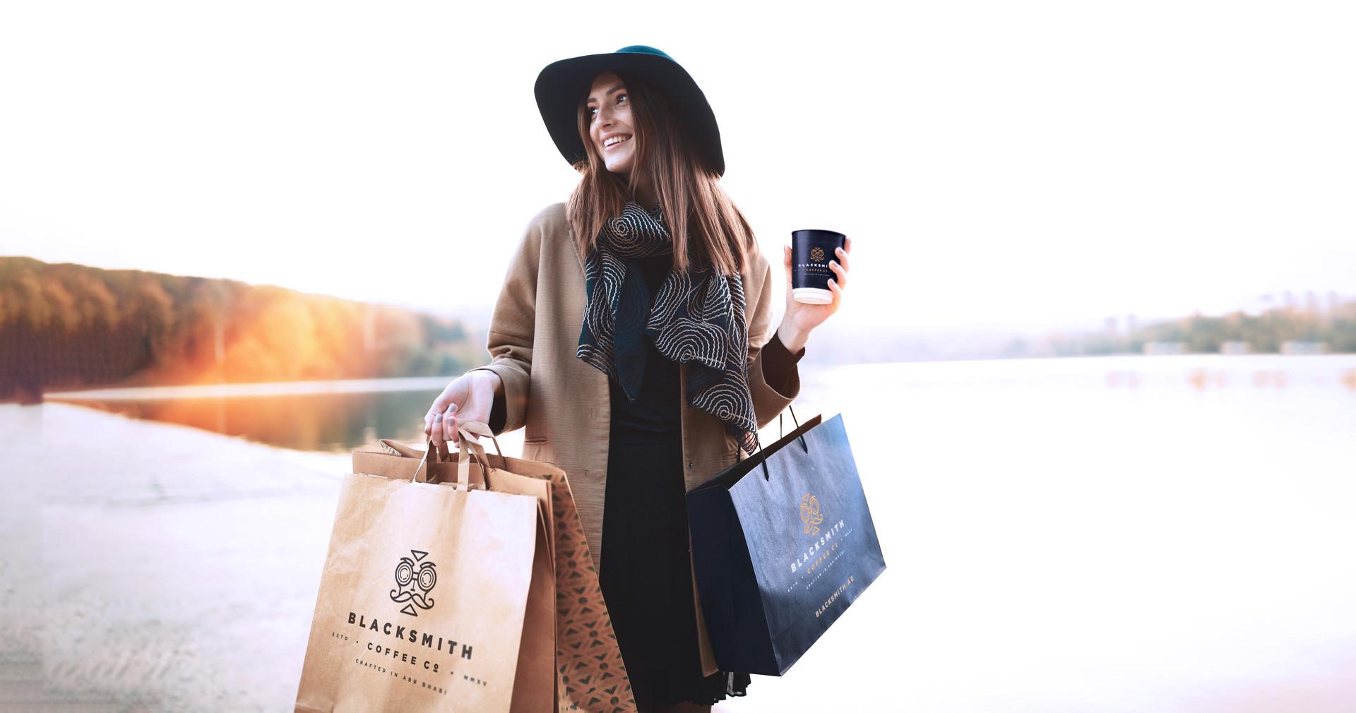 Blacksmith coffee-woman-shopping-bag.jpg