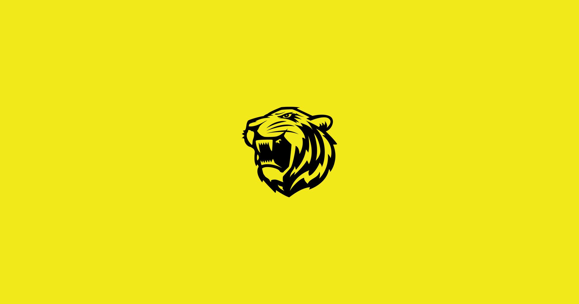 Ittihad FC New Tiger Mascot on colour ba