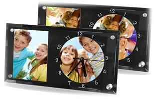 Reloj + Marco de foto de vidrio