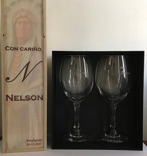 Pack: Caja Vino + Vino + Copas