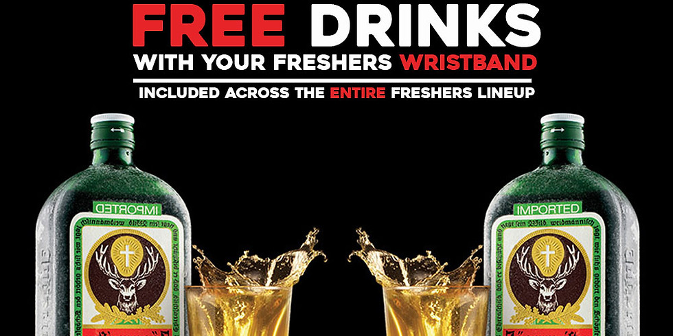 Free Drinks included with your wristband