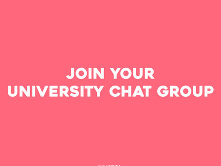 Join Your 2021 University Chat Group.