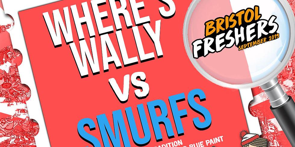 Where's Wally Vs Smurfs