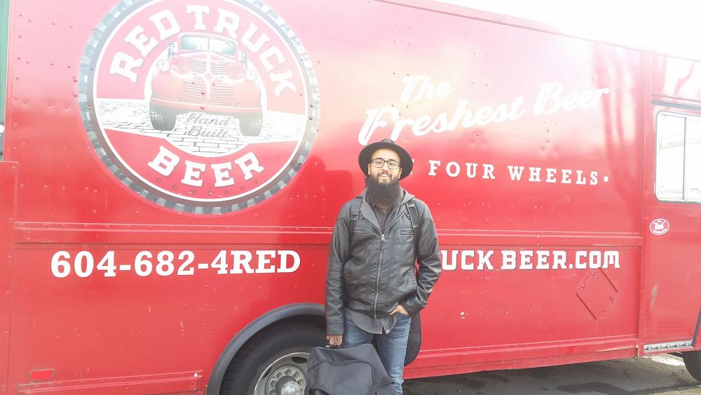 Black Suit Devil Red Truck Beer