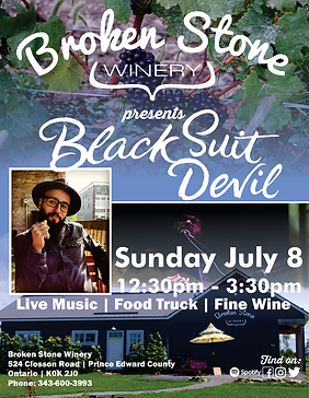 Black Suit Devil at Broken Stone Winery