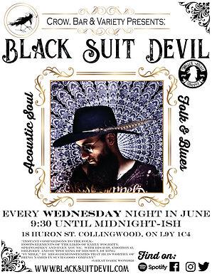 Black Suit Devil CROW Bar June Poster.jp