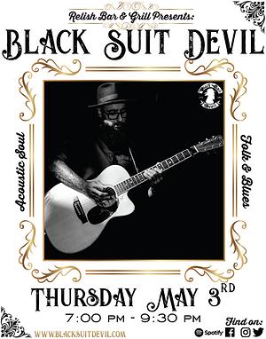 Black Suit Devil at Relish Poster