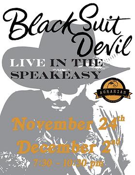 Black Suit Devil at Agrarian Dec Poster