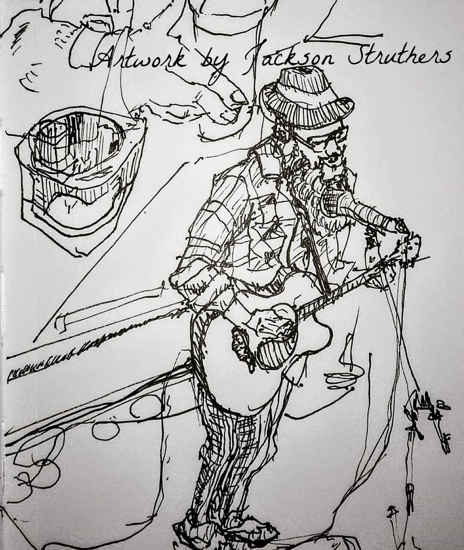 Black Suit Devil Sketch by Jackson Struthers