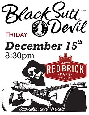 Black Suit Devil at Red Brick Cafe Decem