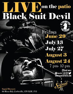 Black Suit Devil at Signal Brewery Poste
