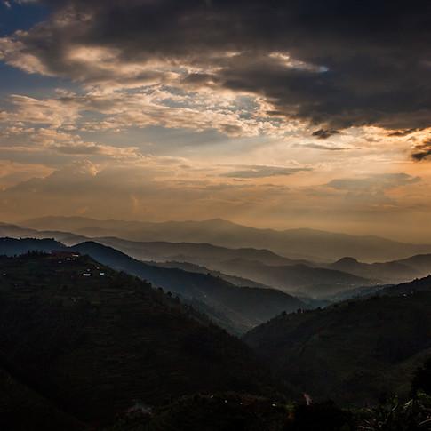 Rwanda Landscape - Sunset