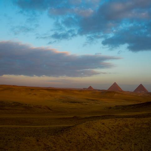 Great Pyramids of Giza - Sunrise