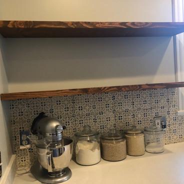 Custom Kitchen Shelves