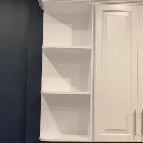 Kitchen Cabinet End-Cap Shelves