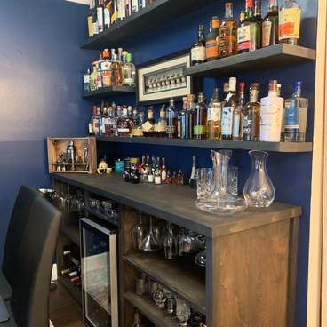 Custom Bar and Shelves