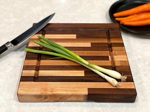 "12"" Maple and Walnut Cutting Board"