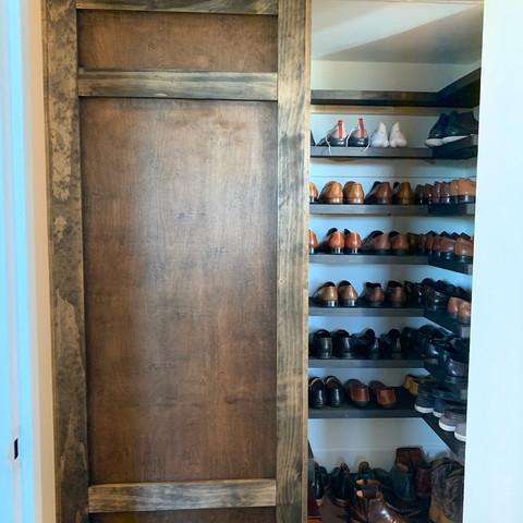 Custom Closet Organizer and Barn Door
