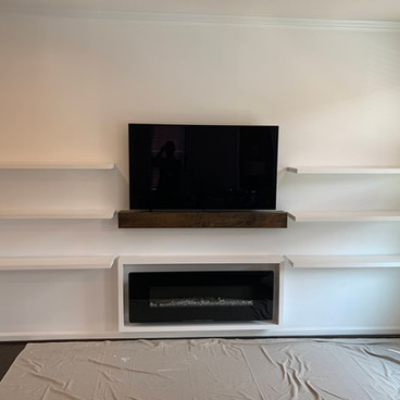 Minimalistic Built-In Shelves