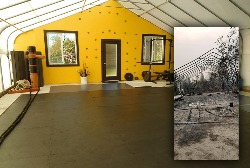 Cultivate Power dojo in Northern California, before and after the Bear/North Complex Fire of 2020