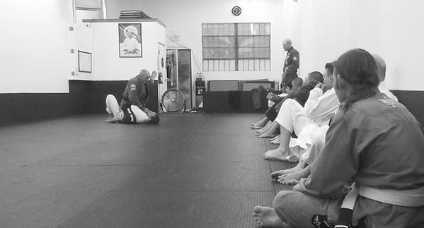 Ira Daugherty teaching at his Oroville Jiu Jitsu Academy