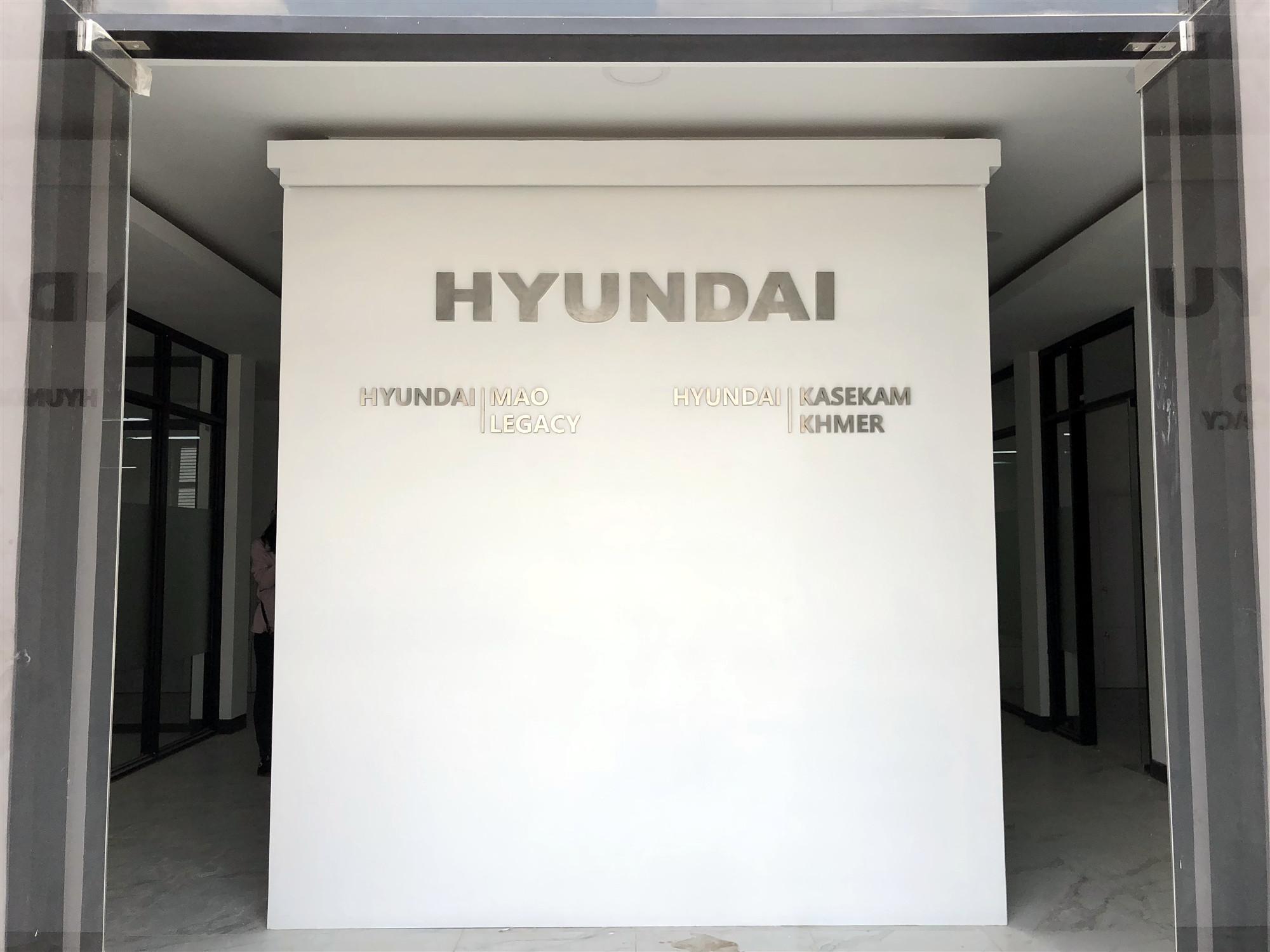 HYUNDAI LOGO WALL
