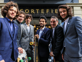 Skates and wheels invaded Cortefiel's flagship store in Barcelona