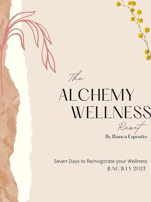 The Alchemy Wellness Reset Workbook (June/July)