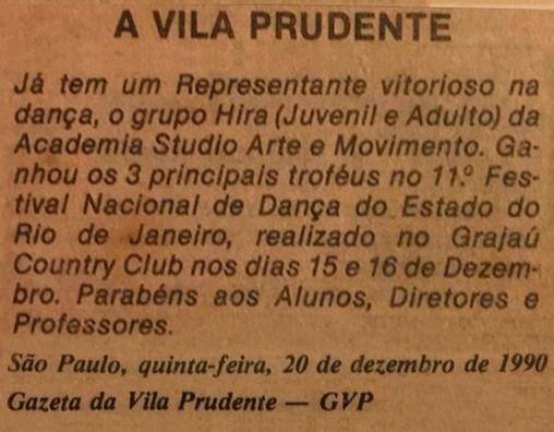 Gazeta da Vila Prudente - 1990