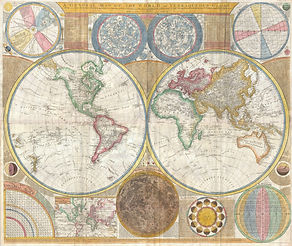 Samuel Dunn, Map of the Hemispheres, 1794