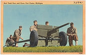 Anti-tank gun and crew, Fort Custer, MI