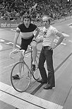Peter Post (rechts) en Eddy Merckx