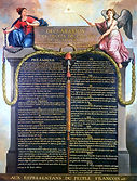 Representation of the Declaration of the Rights of Man and of the Citizen in 1789