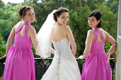 Arnel and bridesmaids