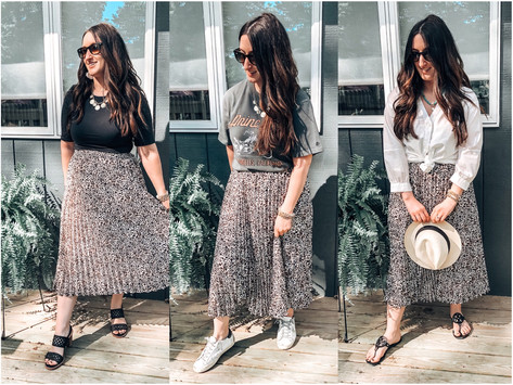 3 Ways to Style a Pleated skirt