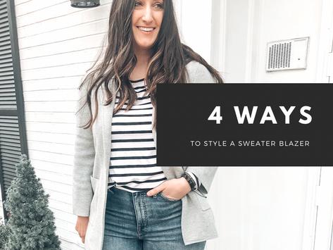 4 Ways to Style A Sweater Blazer