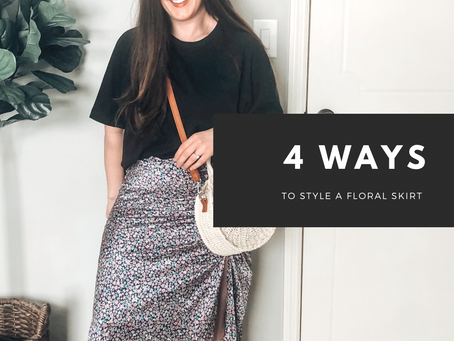 Ways to Style a Floral Skirt