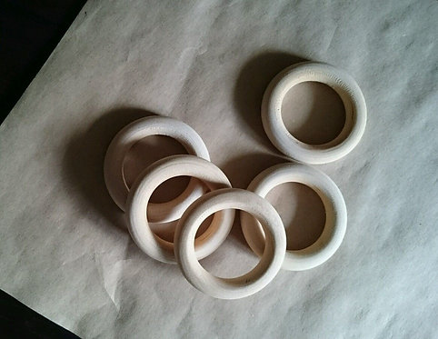 Natural Wooden Rings