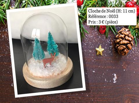 Cloche de Noël (H: 11 cm)