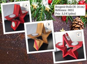 Bougeoir étoile (H:16cm)
