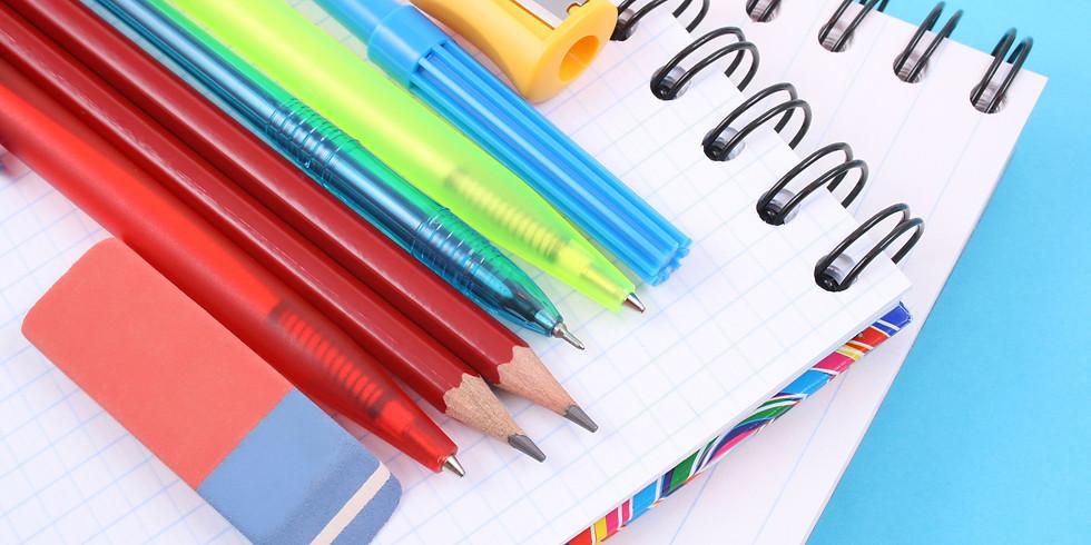 Réassort fournitures scolaires