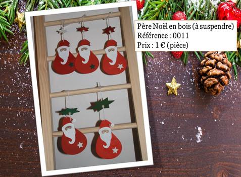 Père Noël en bois (à suspendre)