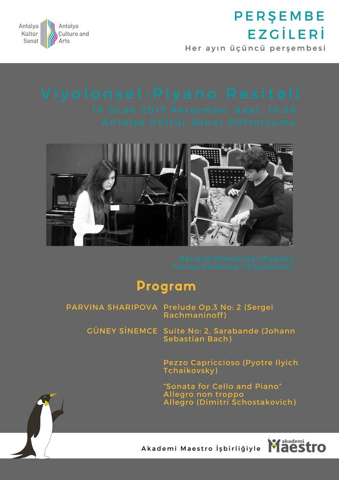 4. Çello & Piyano Düet Konser